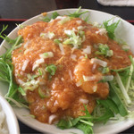 アジア料理 菜心 - 干焼蝦仁=エビチリ¥850
