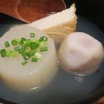 粗挽き蕎麦 トキ - しじみ出汁おでん(3種盛り)