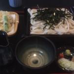 小川家 - 野菜天ざるうどん