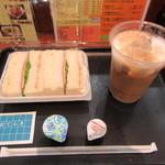 フラップキッチン - MIXサンド+飲み物モーニングセット 600円