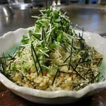 鉄板Dining ゆうあ - オクラと山芋の混ぜ焼きソバ(わさび風味) 1100円
