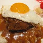 モンステラ カフェ - おすすめはロコモコです!自家製グレイビーソースを使用☆食べてみてください。¥800