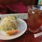 スリランカふくおか - サラダ、セイロンティー