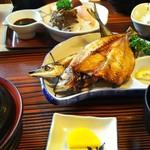 富田屋 - 1610 富田屋 焼き魚定食@640円(さんま、かます)