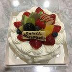 アリス洋菓子店 - 生クリーム(フルーツ)5号2,400円(税別)(2016年10月)