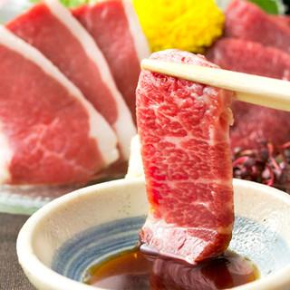 熊本直送!甘口の九州醤油で楽しむ、新鮮な馬刺しの盛合わせ