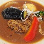 58087481 - スープ食堂 PERCH @中葛西 7種の野菜も入る ランチ スープハンバーグ