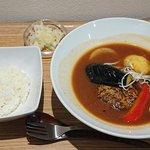 58087483 - スープ食堂 PERCH @中葛西 ランチ B.スープハンバーグ 税込980円 ライス小 100gで