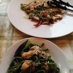 カンパネ食堂 - 帆立とムール貝の生パスタ