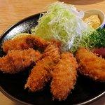 とんかつ梅乃家 - 牡蠣フライ