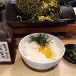 58098634 - 瓦そば(税込¥800)+卵かけご飯(税込¥200)