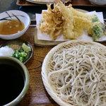 文七 - 料理写真:天ぷら付せいろ大盛り