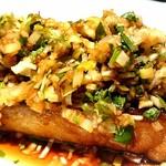 銀座 麒麟 - 天草産真鯛の唐揚げ 香り甘酢かけ