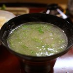 赤坂 菊乃井 - 汁物: 枝豆すう流し