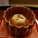 赤坂 菊乃井 - 風呂吹きに胡桃味噌、振り柚子