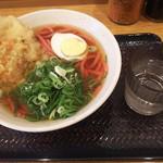 驛麺家 - 赤うどん(税込)410円(2016.10.27)