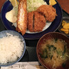 はやし亭 - 料理写真:海老・ヒレ・コロッケ定食@1500円