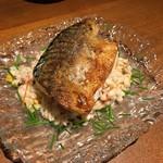 58104056 - 鯖の燻製と押し麦のサラダ
