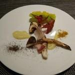 カルチェ・ラタン - 松茸の網焼き 銀杏のピューレ 秋の彩り