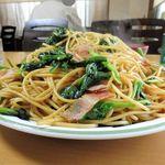 ずう - ホウレン草とベーコンスパゲティー(大盛)900円