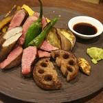 58107500 - 牛タンステーキと季節のグリル野菜 3000円