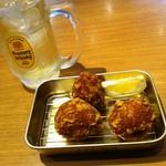 鶏千 - カレーから揚げ(単品)・ハイボール