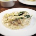 モルソー - 牡蠣とたっぷりネギのグラタン 取り分け後