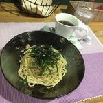 Cafeるくら - ワンコインメニュー 和風スパゲッティ500円