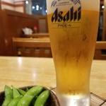 かつ村 - 生ビール(510円)