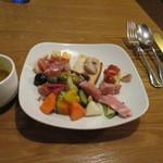 トラットリア コダマ - 本日のスープとオードブル類