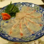 味彩 悠 - 朝〆鯛の薄造り