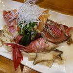 鮨と地魚料理 さかな倶楽部 たっぱん - おじさんの酒蒸し