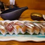 鮨と地魚料理 さかな倶楽部 たっぱん - アカゼムロ青唐バッテラ