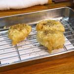 天ぷらとワイン 小島 - レンコン フォアグラ