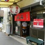 風林 - ココ~(入口の戸には、「勝利にカンパイ!」とある( ̄ー ̄)ニヤリ)