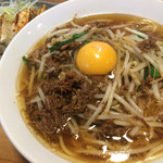 清勝丸 - 辛いモノ食べたかったので台湾ラーメン頼んだつもりがここのは甘かった。