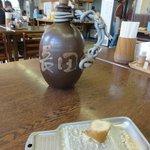 長田うどん - 熱い出汁入りの壷?と欠かせない生姜!