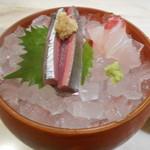 58120892 - 秋刀魚と鯛の刺身