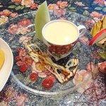 アンフルール - en Fleurs @西葛西 デザート盛り合せ 2種のソルベ・ブランマンジュ・季節の果物