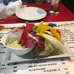 俺のフレンチ - 季節の彩り野菜 バジルソース