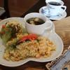 ジャズカフェ ベイシー - 料理写真:エビピラフセット