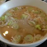 げんき菜農園 - お味噌汁(蕎麦そば入り)