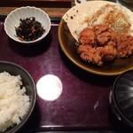 58133989 - 鶏の唐揚げ明太子風味定食