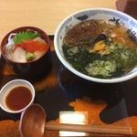 58135326 - 雲丹麺ミニ海鮮丼セット1.300円