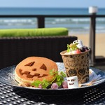 ステラビーチカフェ - ハロウィンのパンケーキ♡