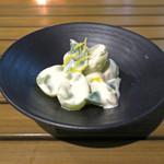 恵比寿 箸庵 - シャイン・マスカットの白和え