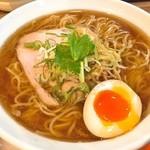 麺や まろみ - 鶏さばしょうゆ(650円)+大盛り(100円)