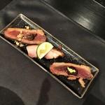 58140216 - 鴨肉ローストと燻製