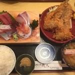 58141314 - 刺身4種と地魚フライ定食