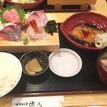 58141318 - 刺身4種と松輪産おしつけ煮付け定食